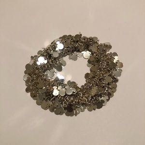 Stretchy Silver Disney Mickey Head Bracelet